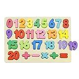 CODIRATO Rompecabezas Digital, Madera Puzzles de Aprendizaje Educativo Rompecabezas de Madera Abecedario Puzzle para Niños Pequeños (Multicolor)