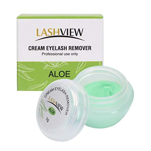 LASHVIEW Eyelash extension remover cream, light Aloe Flavor Cream,Eyelash Adhesive Remover, Low Irritation Cream for Sensitive Skin,5g