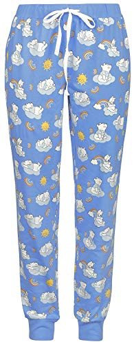 Winnie the Pooh Happy Like A Rainbow Mujer Pantalón de Pijama Multicolor L, 100% algodón,