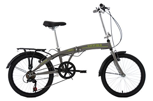 KS Cycling Vélo Pliable Gris 20'
