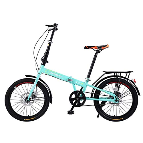 Lowest Price! Folding Bicycle Adult Portable Bicycle 20 Inch Variable Speed Bicycle Male and Female ...