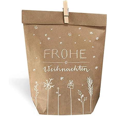 24 x Weihnachtstüte Folien-Boden-Beutel Gebäckbeutel Kekstüten-Lebensmittel *NEU