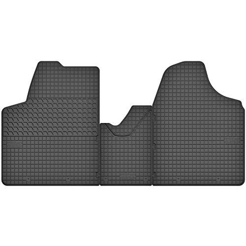 AGCPdirect Lot de 3 tapis de sol en caoutchouc pour Citroën Jumpy 2 2007-2016 et Fiat Scudo 2007-2016 et Peugeot Expert 2007-2016 et Toyota ProAce 2013-2016