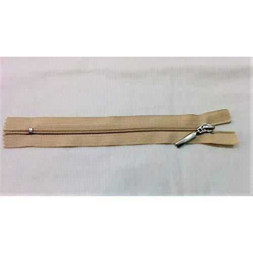 Reißverschluss der reißverschluss aus kunststoff fest, die für röcke-hosen-kette, 3 cm 15 zieht mit reißverschluss-metall-beige