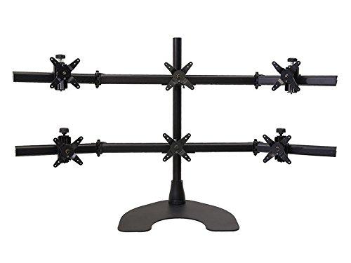 Ergotech Hex 3 Over 3 LCD Monitor Desk Stand (100-D28-B33)