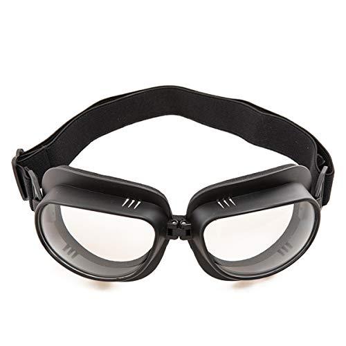 evomosa Vintage Motorradbrille Motorräder Brille für Motocross Offroad ATV Pilotenbrille Sportbrille Snowboard Fahrräder Brille (Schwarze B)
