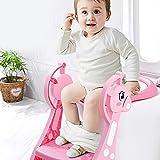 Cocoarm Toilettensitz Kinder mit Treppe, Töpfchentrainer Kinder, töpfchen für Kinder ab 1 Jahr, töpfchentrainer Mit 4 rutschfesten Matten und Rutschfester Leiter, Klappbar und Höhenverstellbar