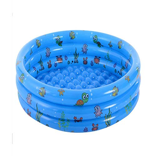 Piscina hinchable redonda para niño – PVC – Piscina – Patología infantil adulto 3 Boudins – Diámetro 80 cm altura 40 cm – Azul, 80 cm
