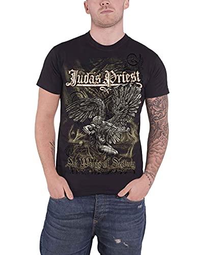 Judas Priest Sad Wings Camiseta Manga Corta, Negro, Medium para Hombre