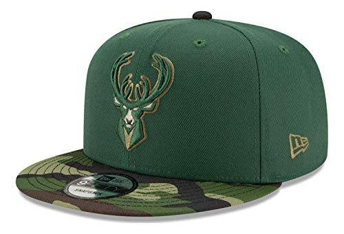 New Era - Gorra NBA Milwaukee Bucks All Star Game Camo 9Fifty Snapback - Verde verde Talla única
