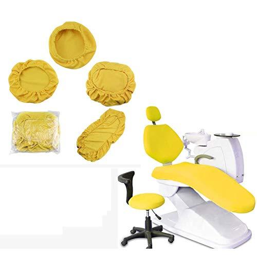 BIUYYY Dental Stuhl Sitzbezug Elastische wasserdichte Schutzhülle Kopfstütze Rückenlehne Schutz Zahnarzt Ausrüstung, 4 Teile/Satz
