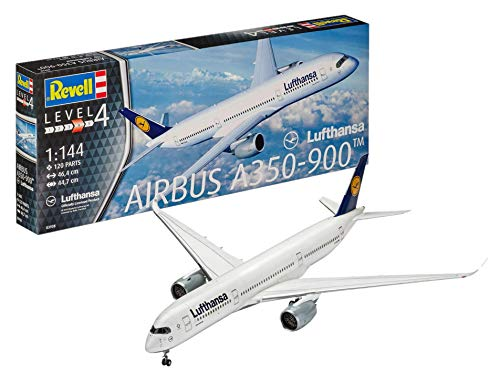 Revell- Airbus A350-900 Lufthansa, Kit de Modelo, Escala 1:144 (3938) (03938), 46,4cm (