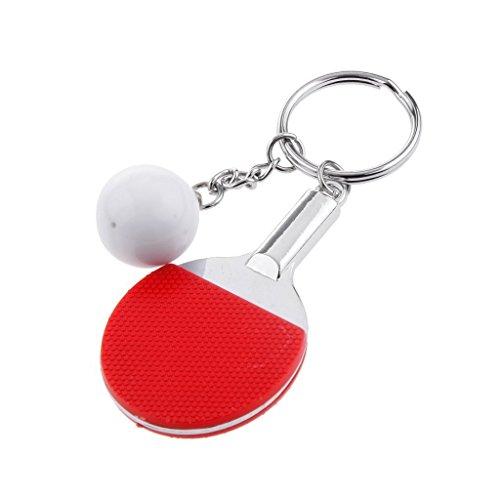 Nopea Kreative Tischtennis Ball Anhänger Schlüsselanhänger Mini Tischtennis Anhänger Schlüsselring Schlüsselbund Schläger Kugel Anhänger Geschenk Zufällige Farbe