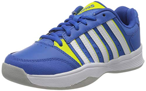 K-Swiss Performance Jungen Court Smash Carpet M Tennisschuhe, Blau (Strngblu/Nenctrn/Wt, 2 000070587), 34 EU