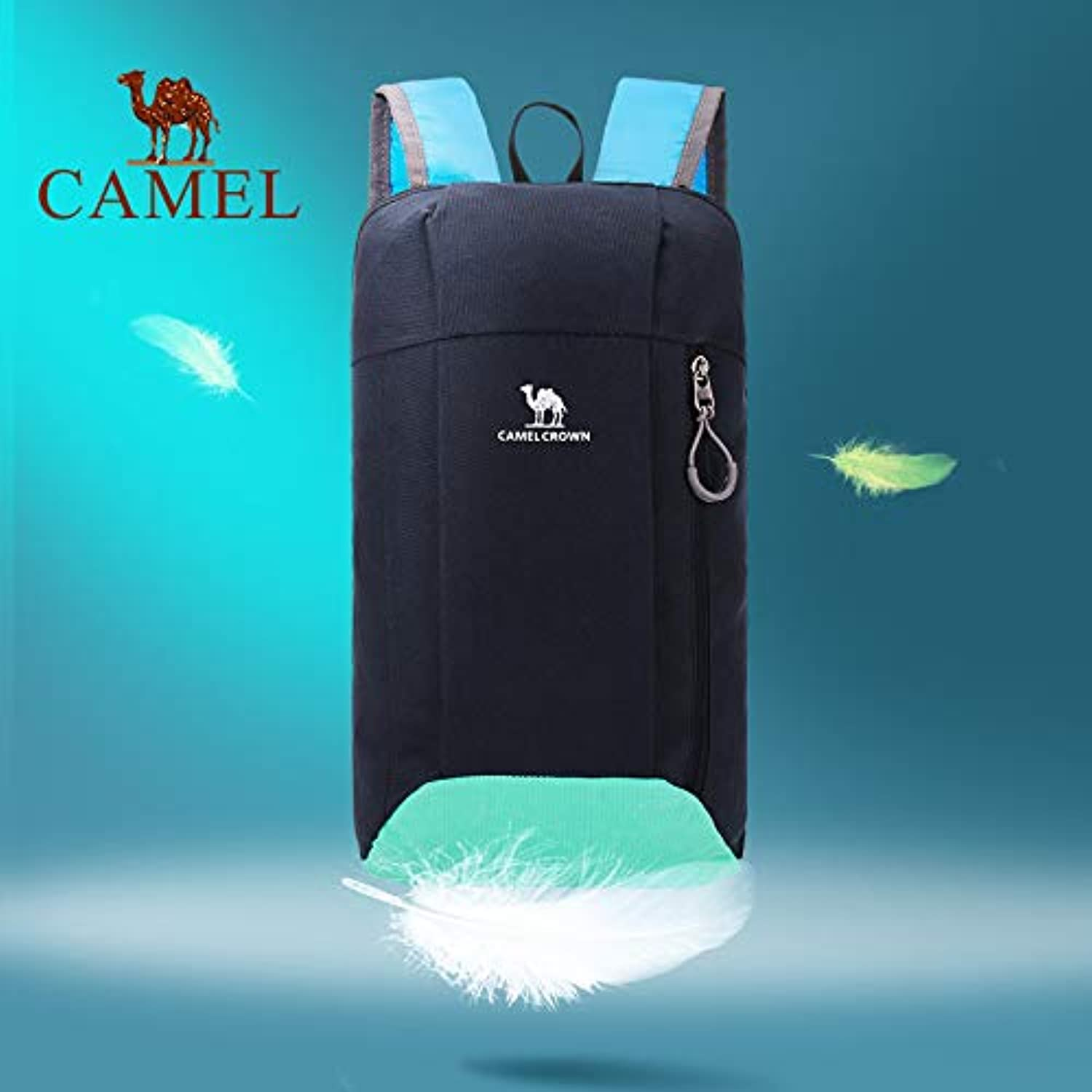 Camel Camel Outdoor Backpack Sports Leisure Hiking Mountaineering Cross-Country Men and Women 10L Backpack