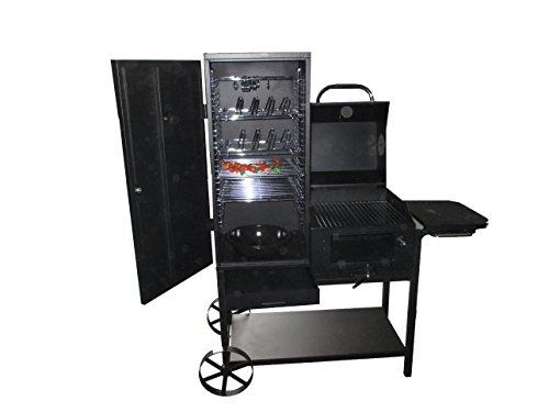 "KIUG® BBQ Smoker Carrello ""Missouri"" Grill + AffumicatoreCa. 45 kg."