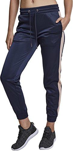 Urban Classics Damen Ladies Cuff Track Pants Sporthose, Mehrfarbig (Navy/Light Rose 01226), W27(Herstellergröße: S)