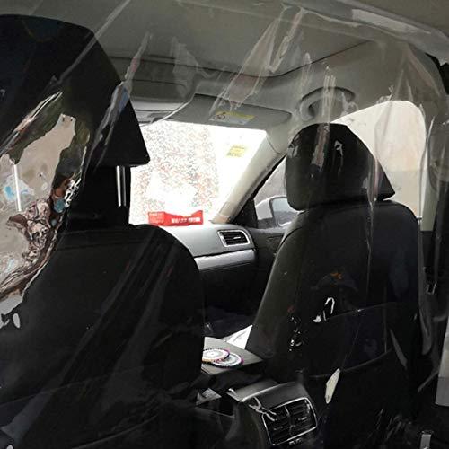 MATCC Autodämmfolie Taxi Autodämmungsnetz Transparenter Isoliervorhang Kabine vorne und hinten Kunststoffschutzabdeckung (1,4x1,8 m)