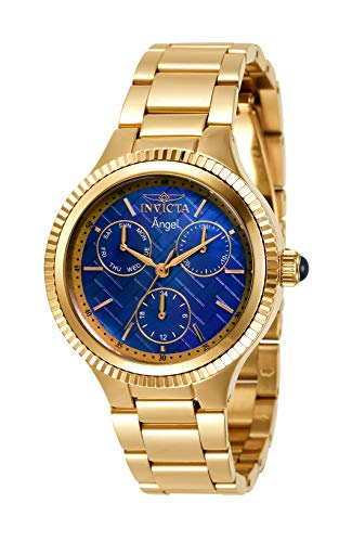 Invicta Women's Angel Quartz Watch with Stainless Steel Strap, Gold, 18 (Model: 31274)