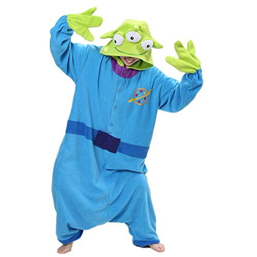 Squeeze Toy Story Aliens Little Green Men Onesies Pijamas Jumpsuit Hoodies Adultos Cosplay Kigurumi Disfraz Con Cremallera
