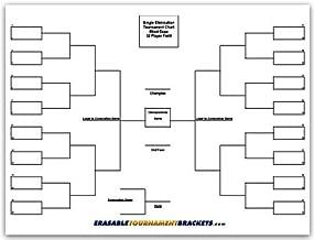 ZieglerWorld 32 Team Erasable Blind Draw Single Elimination Tournament Bracket Chart + Erasable Pen