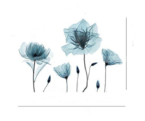 SYT Wall Stickers Autocollants muraux de Fleur Romantique Creative Auto-adhésif Chambre Mur décoration Chaude Petit Salon Frais canapé Autocollants
