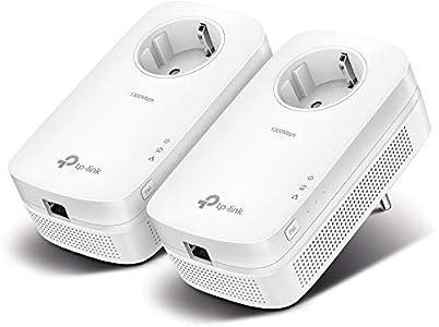 TP-Link TL-PA8010P KIT de Inicio Powerline Passthrough Gigabit AV1300, 1300Mbps, Blanco