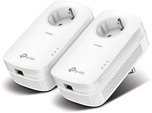 TP-Link TL-PA8010P KIT de Inicio Powerline Passthrough Gigabit AV1300, 1300Mbps, Blanco