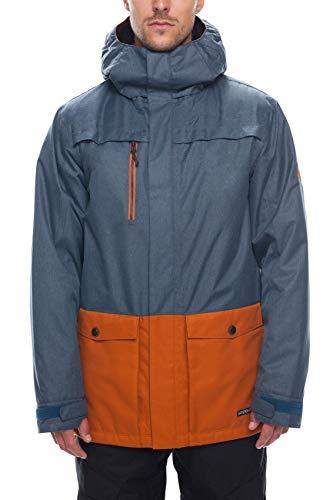 686 Herren Mns Anthem Insl Jkt Snowboard-Jacken, Blue Steel Melange Color Block, X-Large