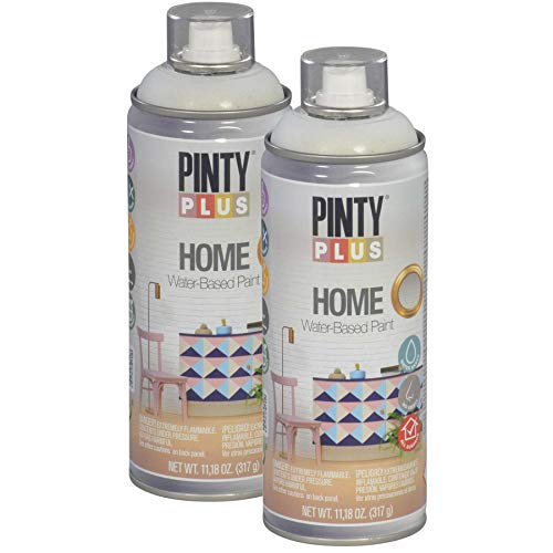 Pintyplus Home Spray Paint - Foggy Blue - 11.2 oz Aerosol - 2 Pack, Low Odor, Low VOC, Matt Finish, Water Based, Environmentally Friendly, Ideal for Indoor Household Projects, Pack of 2