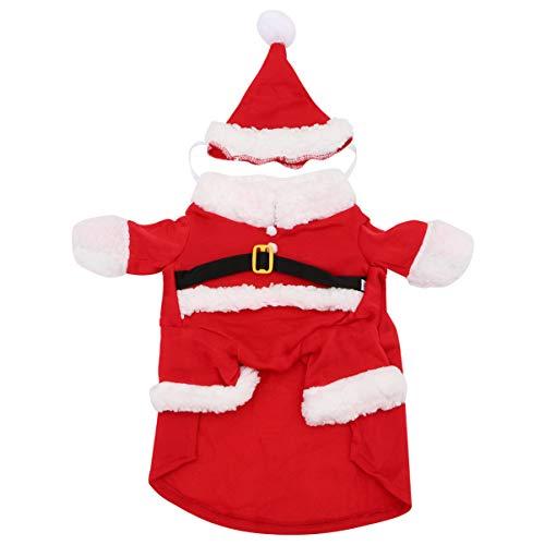 NUOBESTY Disfraz de Santa Claus para Mascotas con Sombrero Perro...