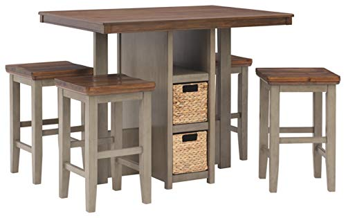 Signature Design by Ashley Lettner Dining Table Set, Gray/Brown