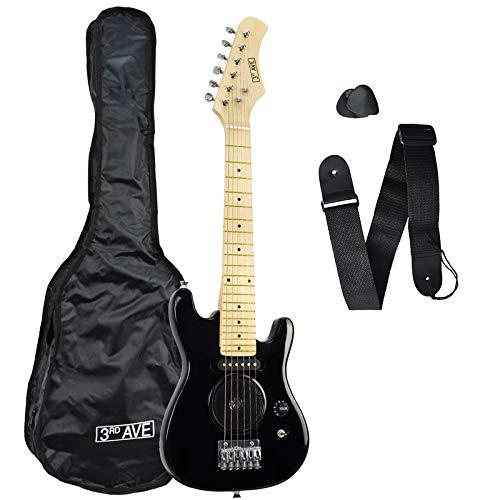 3rd Avenue STX05BK Guitarra eléctrica de 1/4 de tamaño, Negro