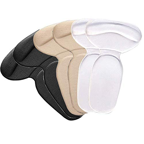 High Heel Pads, 3 Pairs Heel Cushion Inserts for Women and Men Reusable Soft Shoe Inserts Heel Cushion Pads Self-Adhesive Foot Care Protector Grips Liners Loose Shoes
