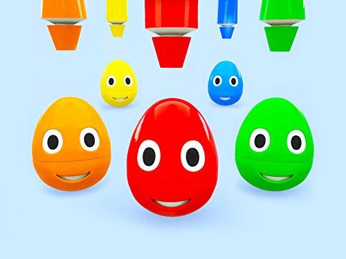 Farben lernen mit intelligenten Eiern - Tube mit Farbe