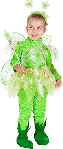 Costume di Carnevale da Piccola Fatina dei BOSCHI Vestito per neonata Bambina 0-3 Anni Travestimento Veneziano Halloween Cosplay Festa Party 7714 Taglia 3