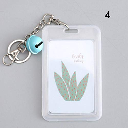 weichuang Tarjetero para tarjetas de visita, tarjetero para señoras y hombres, bonito diseño de cactus (color: 4)