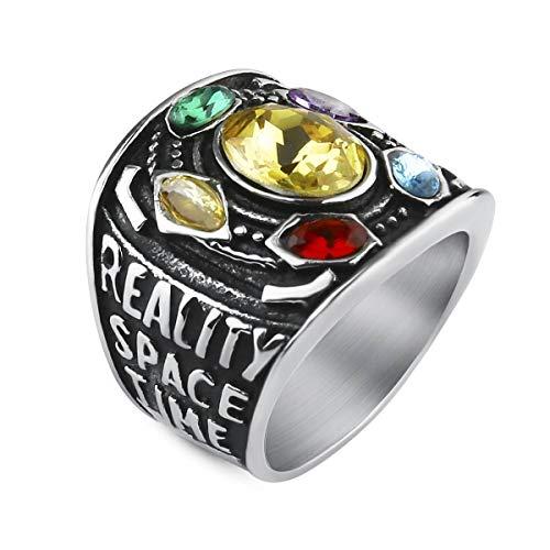 Preisvergleich Produktbild Valily Herren Ring Marvel Avengers Edelstahl Thanos Power Gauntlet Ringe für Damen / Jungen Party Kostüm Zubehör Größe 54