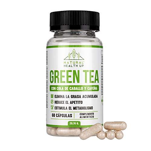 Groene thee met paardenstaart en cafeïne voor het verwijderen van vetafzettingen – slankmiddel draagt ertoe bij dat de stofwisseling versnellen – 60 capsules