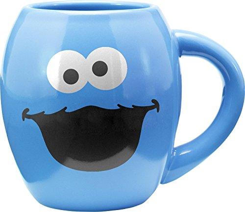 vándor–511ml Oval Keramik Tasse Sesamstraße, Krümelmonster 18oz Cookie Monster Sesame Street Cookie Monster