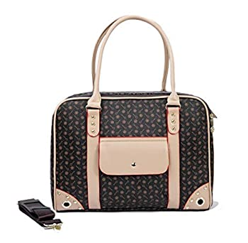 BETOP HOUSE Pet Carrier Tote Around Town Pet Carrier Portable Dog Handbag Dog Purse for Outdoor Travel Walking Hiking Brown 14.17  11  6.3
