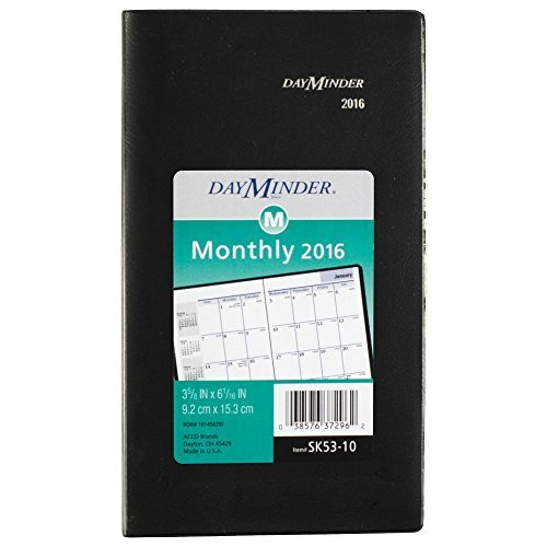 DayMinder Monthly Planner 2016, 3.62 x 6.06 Inches Page Size, Assorted Colors - Color May Vary (SK53-10) by DayMinder