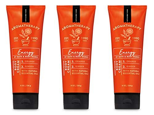 Bath & Body Works Aromatherapy Energy, Orange Ginger Body Cream 8 oz. - 3 Pack
