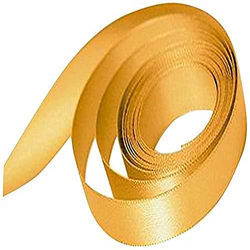 Fita Papillon e laço de cetim de face única de 1,58 cm, dourado