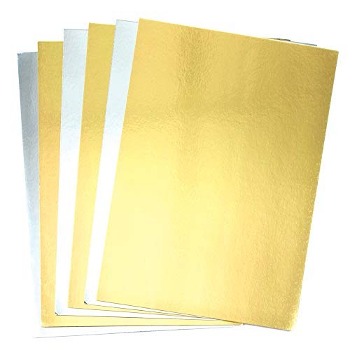 Baker Ross Metallic-A4-Pappe in Gold und Silber (20 Stück)
