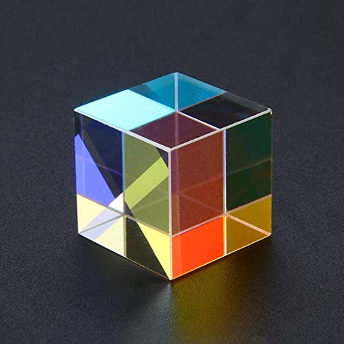 NUJA 1 stück entwickeln intelligenten CMY op-tic pr-ISM Cubes - optisches Glas Prisma, RGB Dispersion sechsseitiges buntes interessantes DIY Spielzeug (Farbe : 2 pc)
