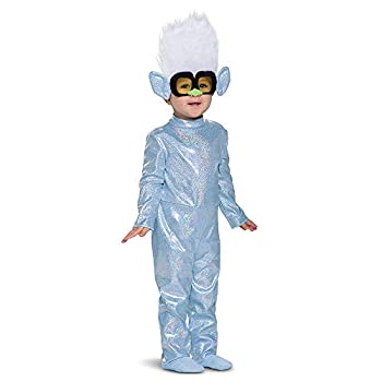 Trolls Tiny Diamond Costume Trolls World Tour Costume Outfit Classic Toddlers Size Character Jumpsuit with Hair Small  2T