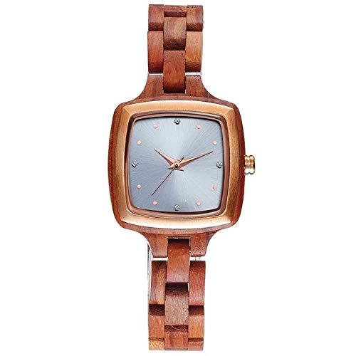 Haoooan Reloj Boys Relojes De Señoras De Madera Relojes del Vestido De Las Mujeres Reloj Minimalistas Simples (Color : 2)