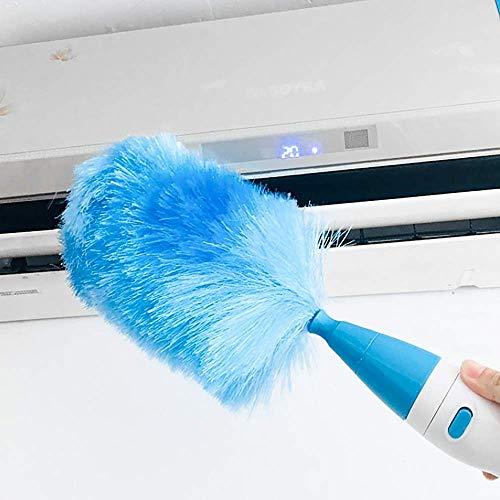 GYYlucky Verstelbare elektrische plumeau stofzuiger batterij met touch-toets, blauw