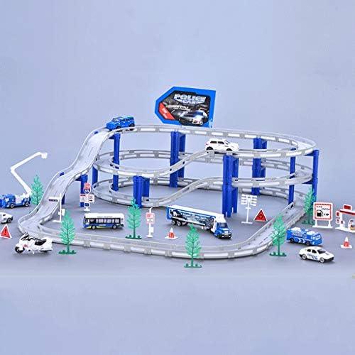 LINGLING-Verfolgen Track Toy Train Track Racing Kinder Toy Boy Geschenk - Polizei Set (Größe   M)